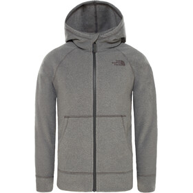 The North Face Glacier Täysvetoketjullinen Huppari Pojat, tnf medium grey heather/graphit grey